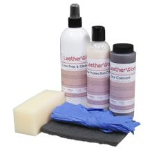 Leather/Vinyl Recoloring Kit for leather furniture : Plum or ...