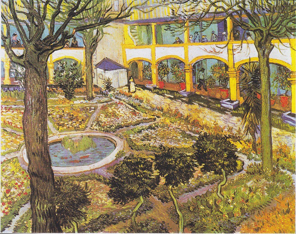 """Giardino Di Una Casa il giardino della casa di cura di arles"""" (1889) vincent"""