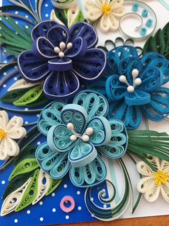 quilling card birthday quilled card quilled flower  paper