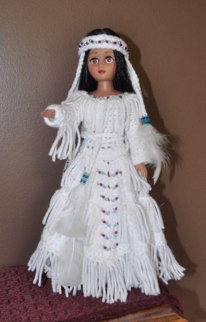 Items similar to Indian Girl Doll in Crochet Dress/Headband on Etsy