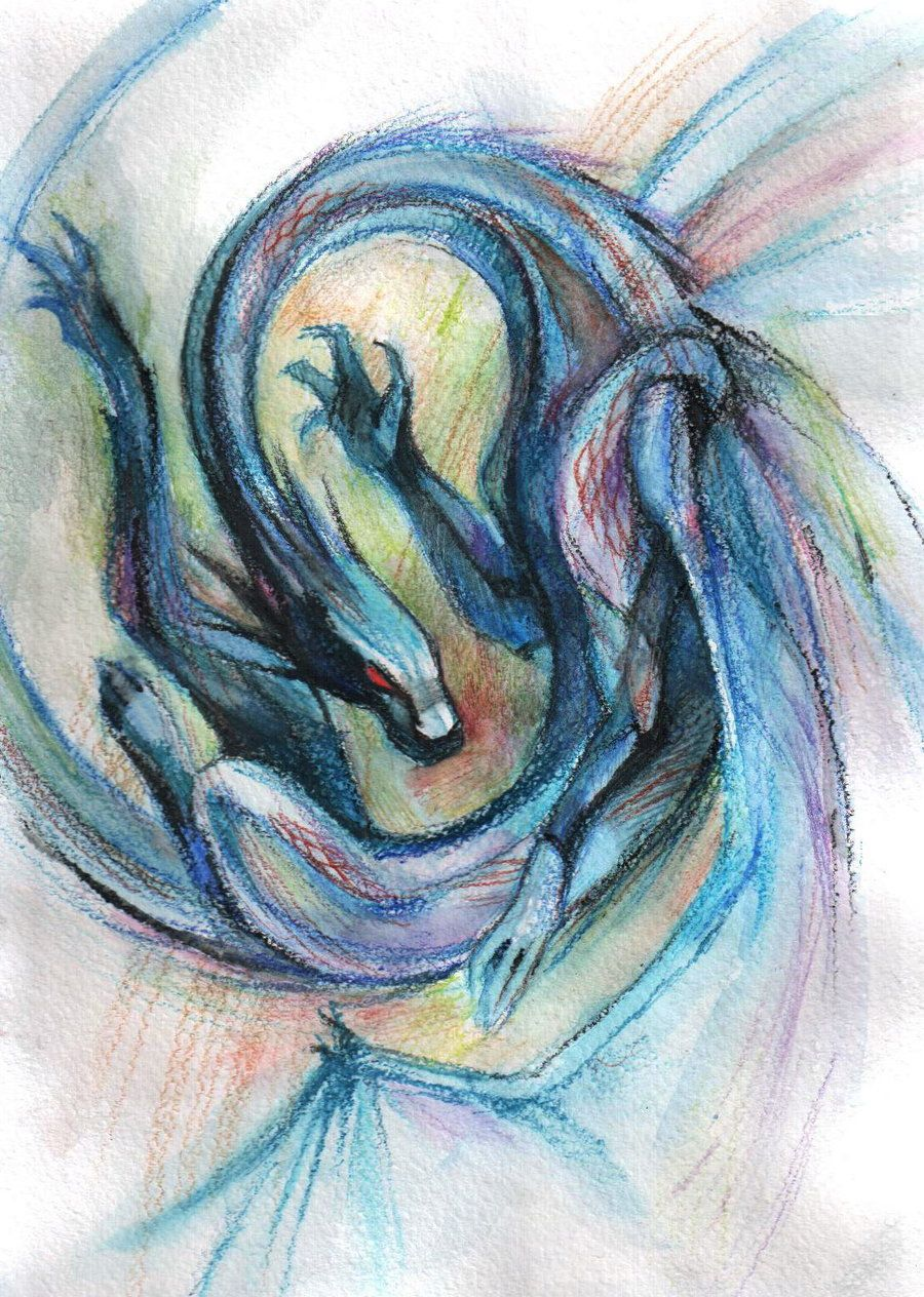 Watercolor Dragon Deviantart Tatoo Ideas