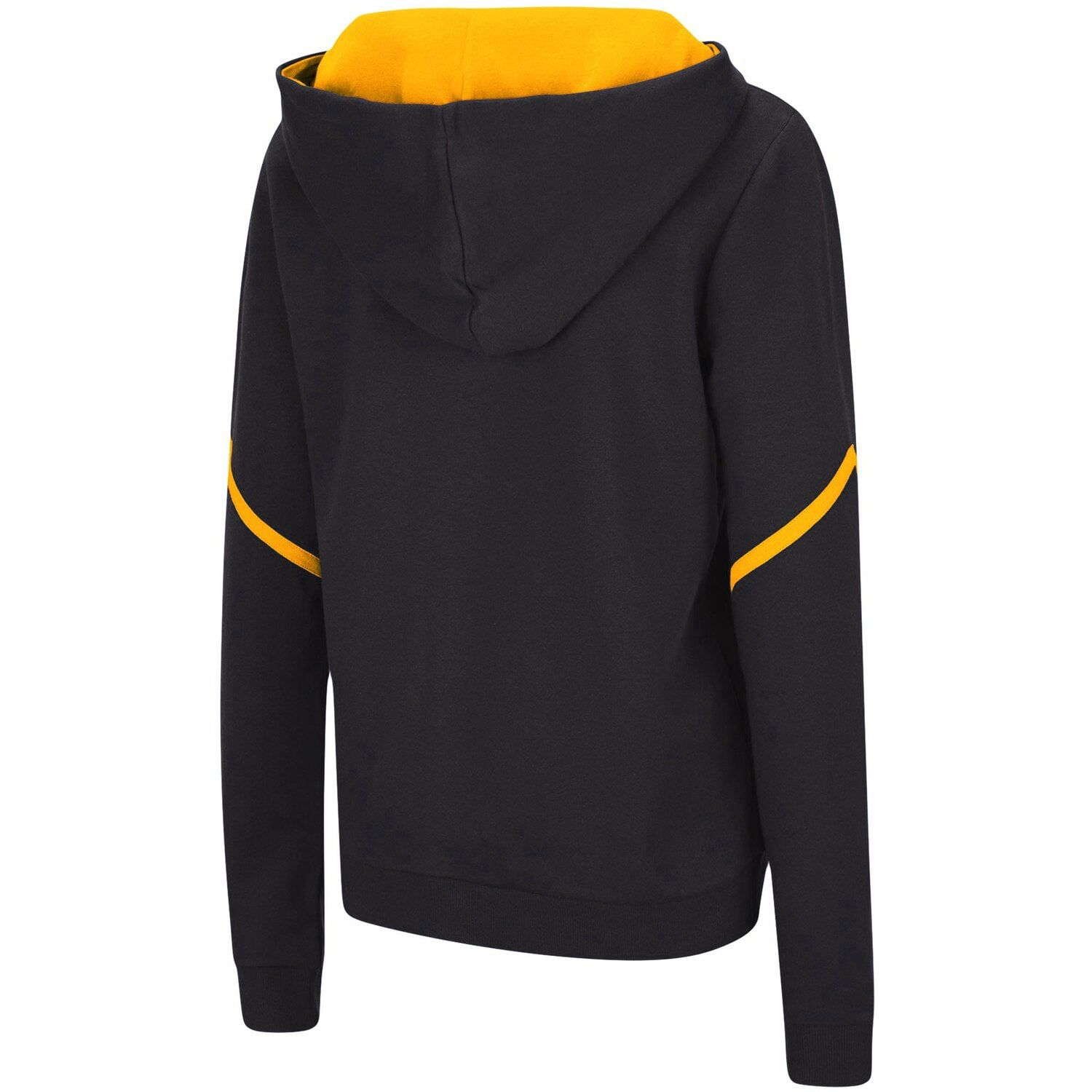 Women's Colosseum Navy West Virginia Mountaineers Maeby Lace-up Pullover Hoodie #westvirginia