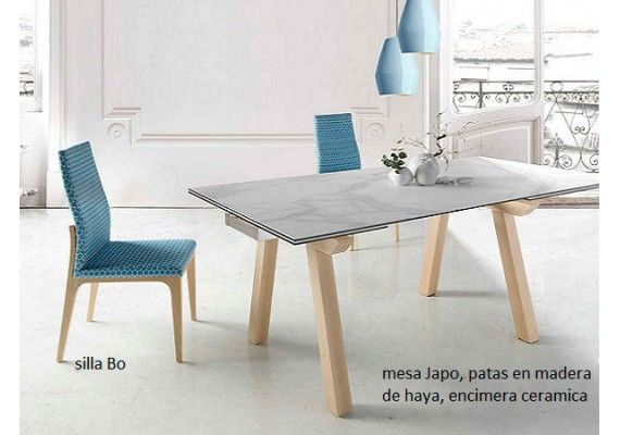 Mesa extensible Lauri patas de madera a medida en 2019 | Mesas de ...