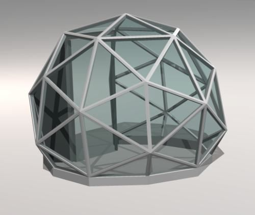Wood Geodesic Dome Plans: New Pentakis Greenhouse Dome Plan Available