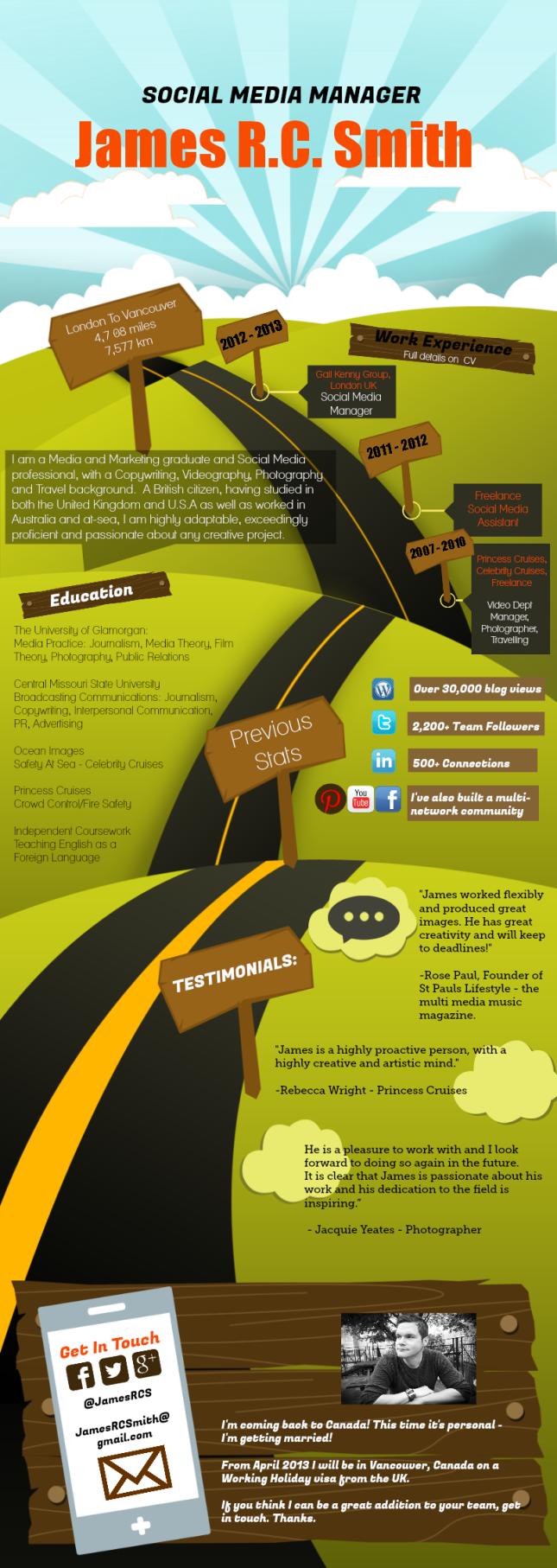 infographic resume, infographic cv, vancouver social media, social ...
