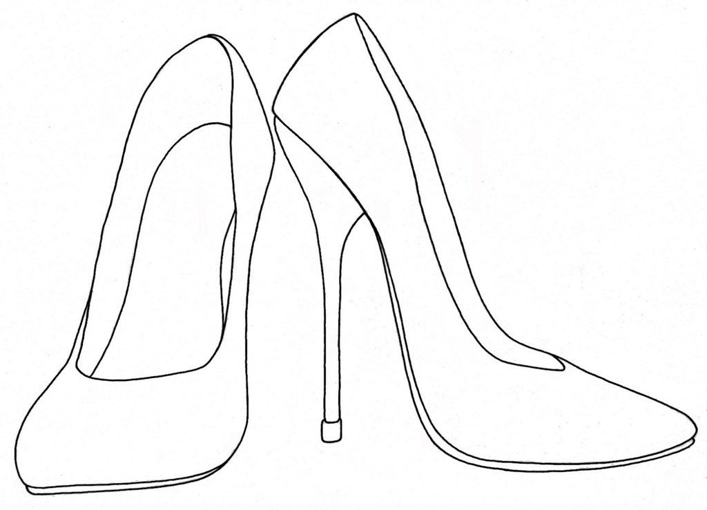 High Heels Shoes Coloring Printable And Drawing Diy Heels Heels High Heels