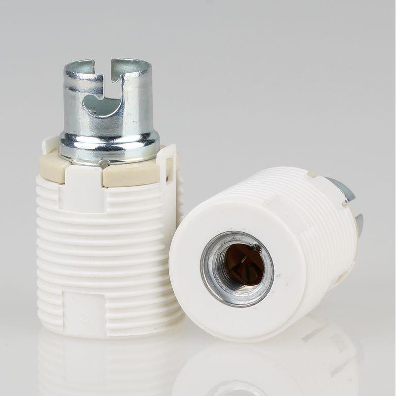 Fassung E14 Porzellan Aufbau weiß  Leuchte Lampe Licht Ersatz