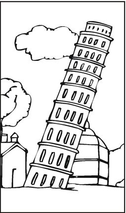 Leaning Tower Of Pisa Coloring Page Pisa Italy For Kids