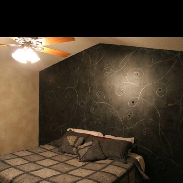 faux finish headboard via fresh paint  bedroom design