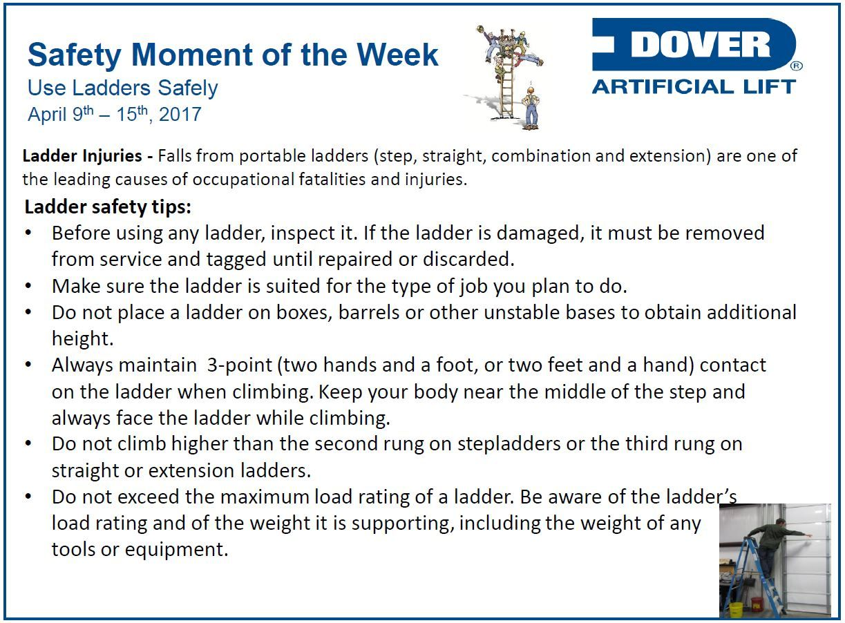Use Ladders Safely! Alberta Oil Tool's Safety Moment of