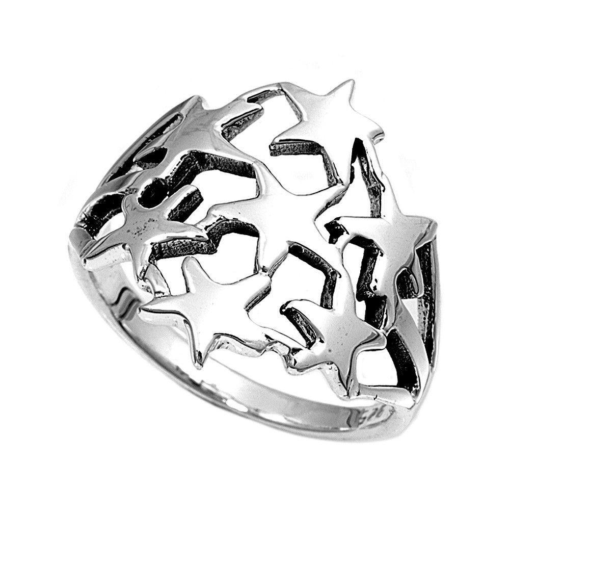 925 Sterling Silver Stars 19MM Ring