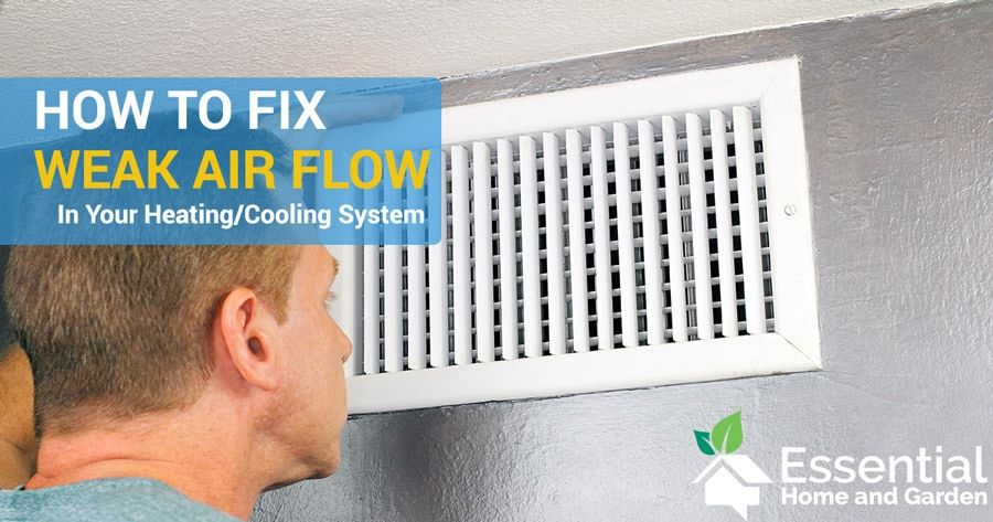 6 Causes Of Low Air Flow From Your Ducts Heating Hvac Air Duct Heating Cooling System