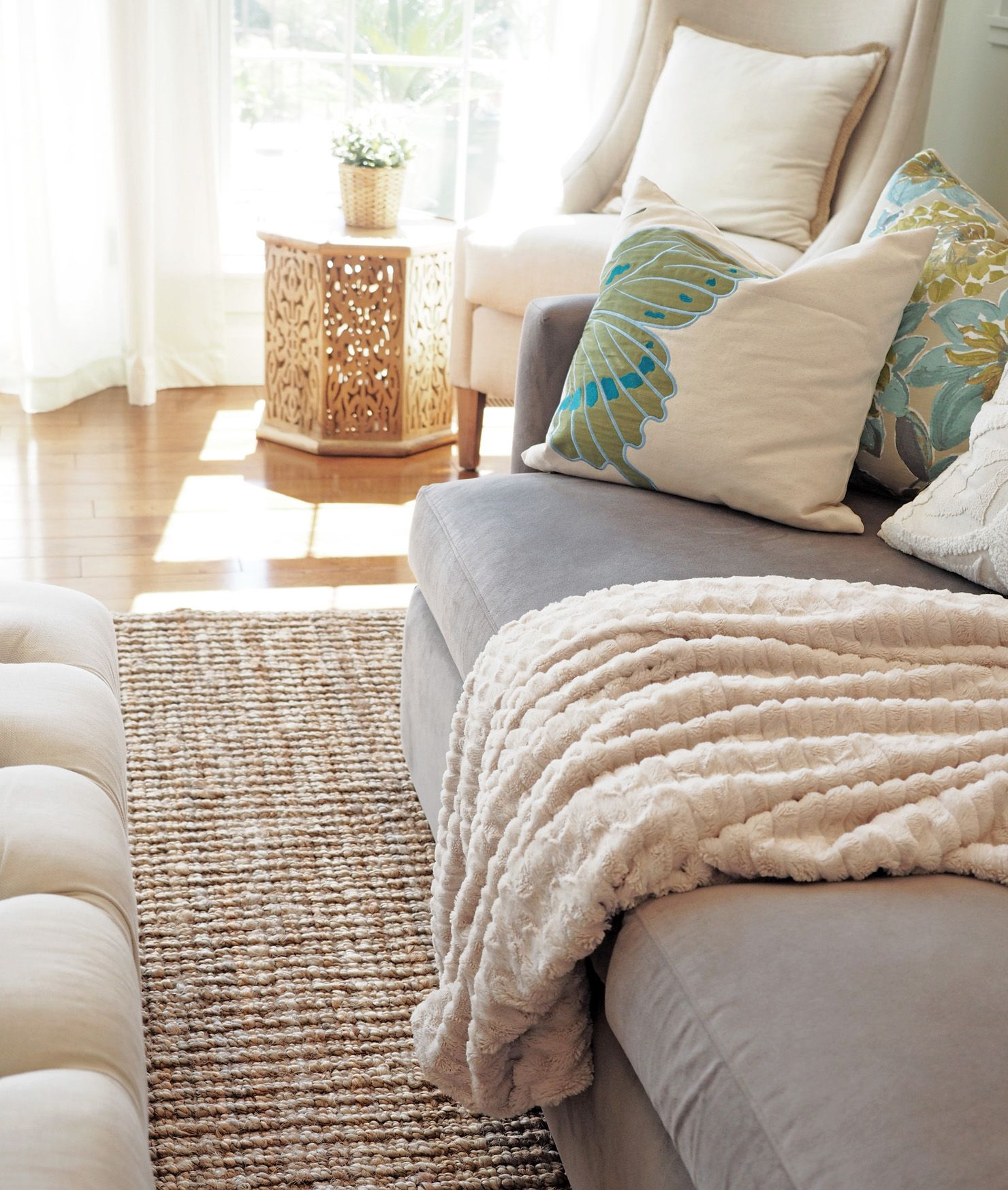 Jute Rug Is Ralph Lauren Purchased Recently At Home Goods. Butterfly Pillow  Pier 1 Imports. Corner Linen Chair U2013 Carol House Furniture, St. Louis,  Missouri; ...