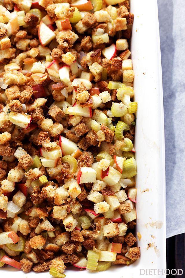 Easy Apple Stuffing Recipe   Thanksiving or Christ