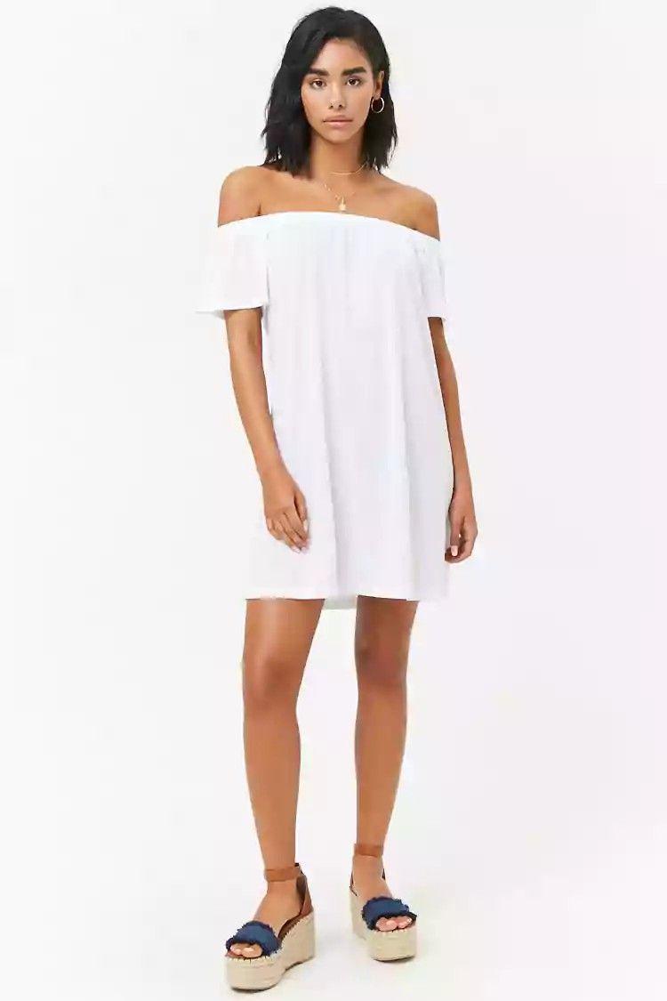 Off The Shoulder T Shirt Dress 1000 Fashion Moda Model Dress