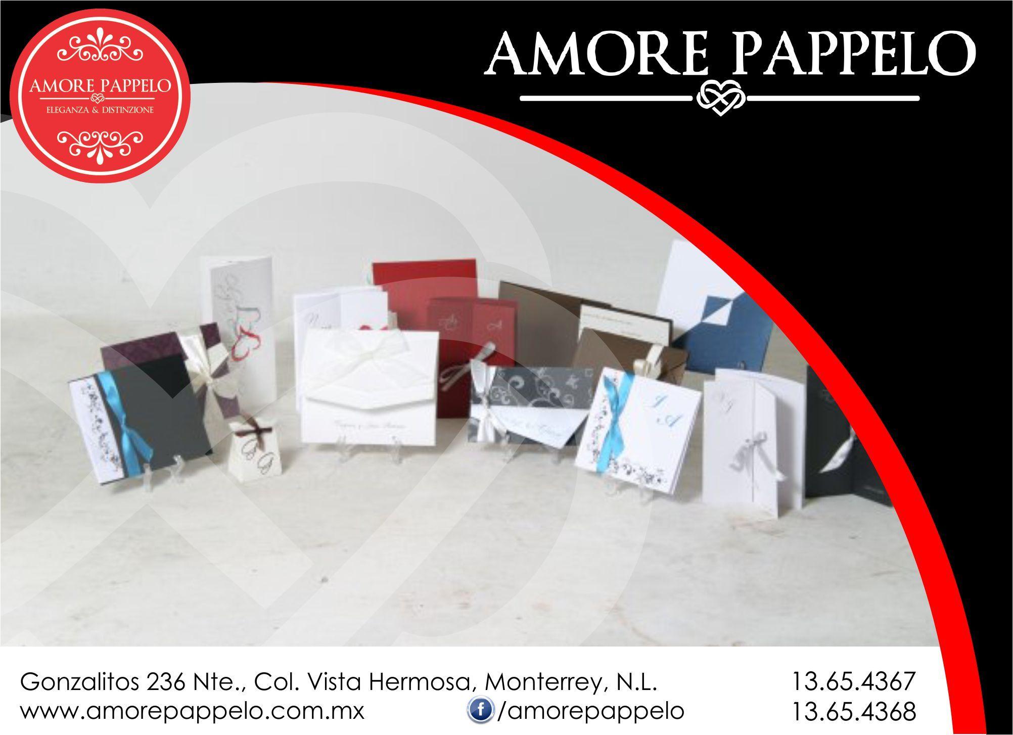Invitaciones Amore Pappelo