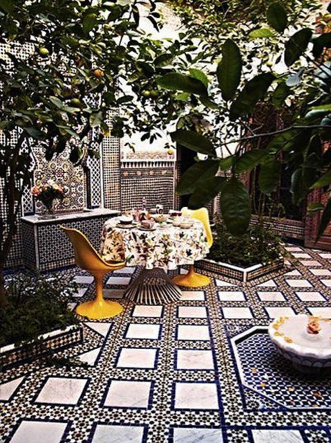 Stunning Moroccan Courtyards Design Outdoor Design Moroccan Design