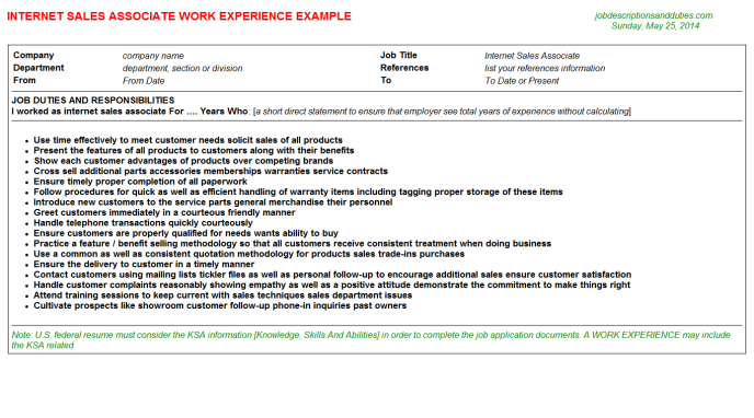 free sample sales associate resume gamestop