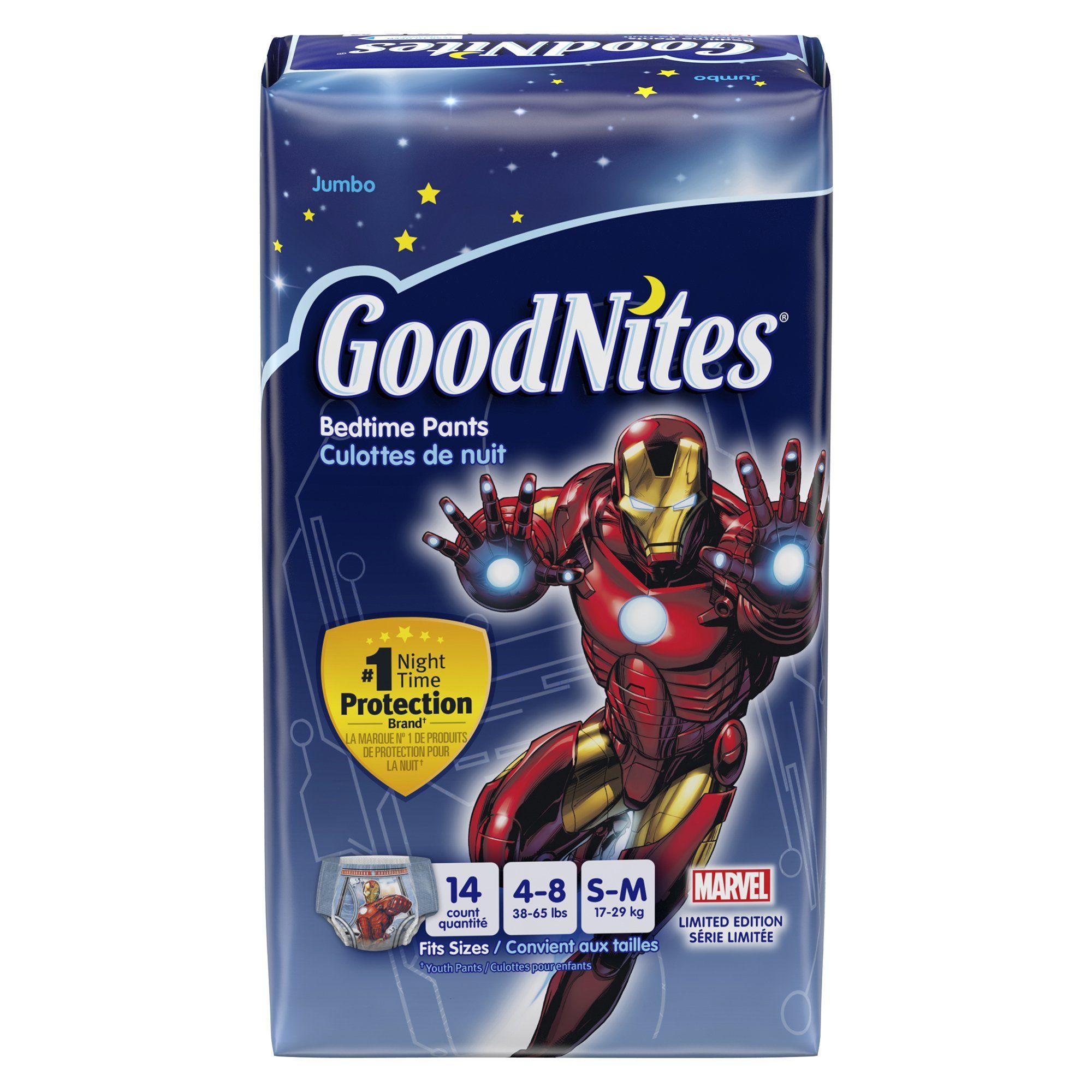 Goodnites Underwear - Boy - Small - 14 ct. GoodNites Bedtime Pants ...