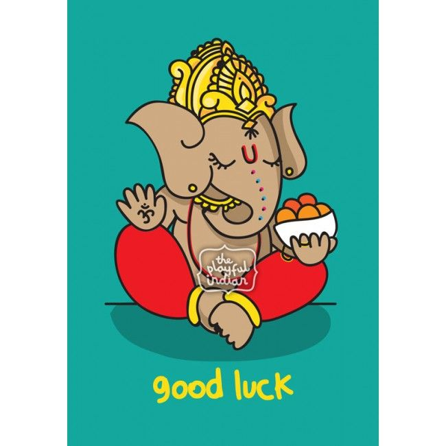 Good luck ganesh greeting card by the playful indian ganesh good luck ganesh greeting card by the playful indian ganesh ganesha elephantgod hindugod indian goodluck m4hsunfo