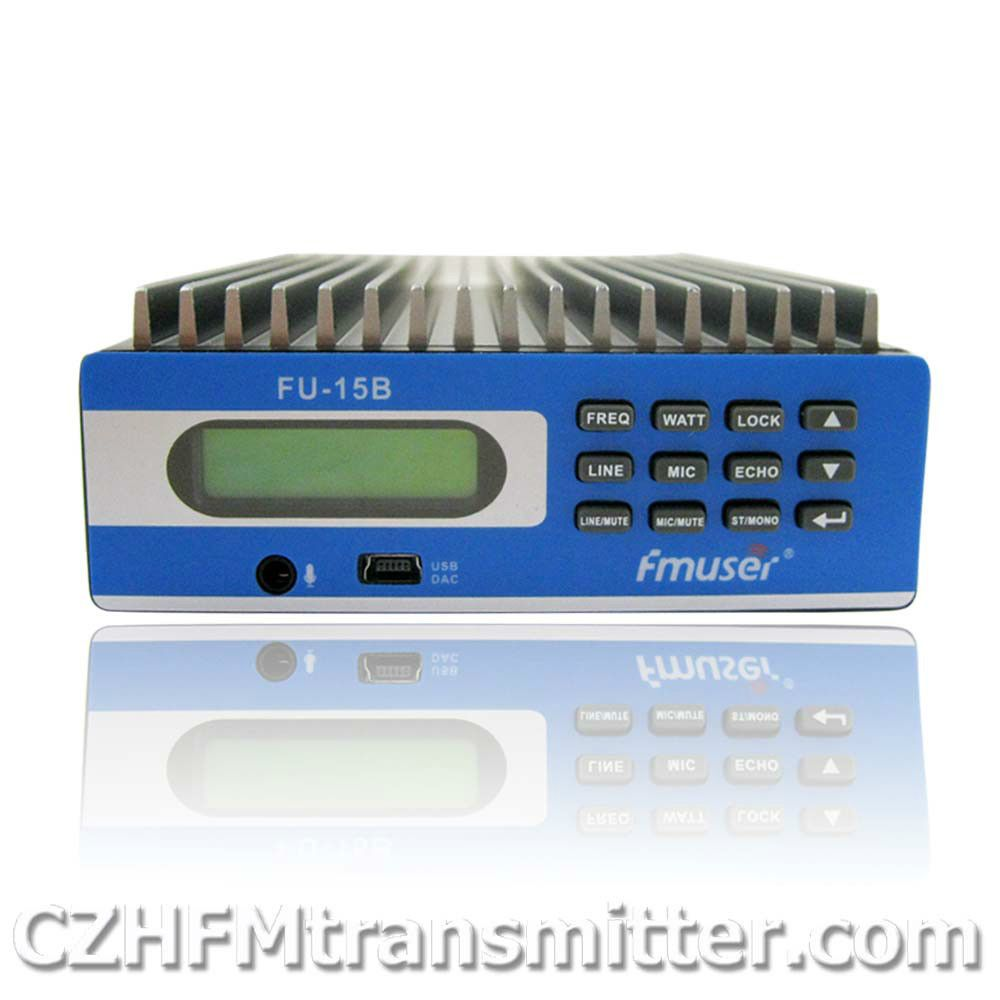 FMUSER FU-15B 0 W-15 W PREMIUM Professionele PC Controle Fm-zender cover 3 m-15 km DHL EMS gratis verzending