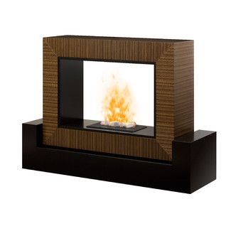 Double Sided Electric Fireplace To Serve As Pseduo Room Divider