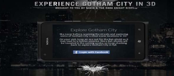 Nokia And #TheDarkKnightRises Lets You To Experience #Gotham City In 3D