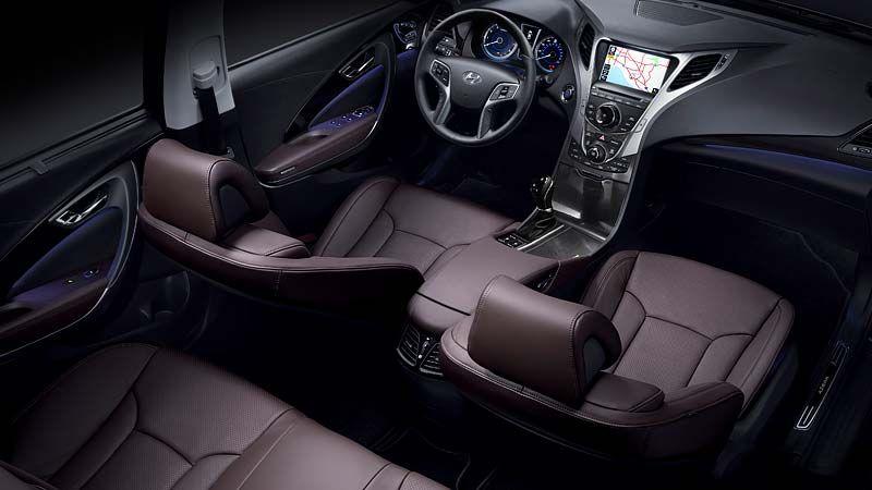 2013 Azera In Chestnut Brown Leather Interior Carros