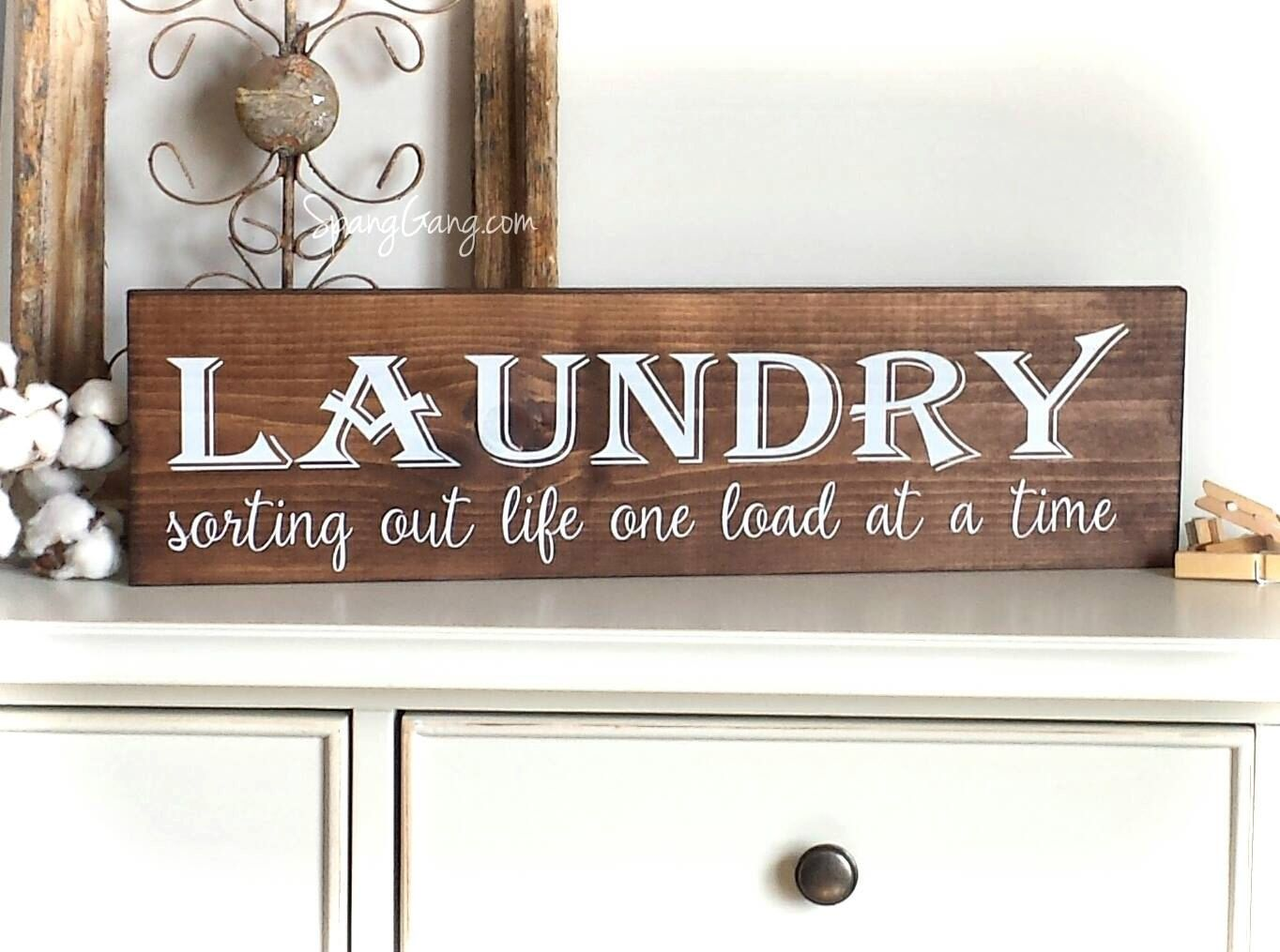 Laundry Room Wall Signs Laundry Room Decor  Farmhouse Laundry Sign  Laundry Room Wall