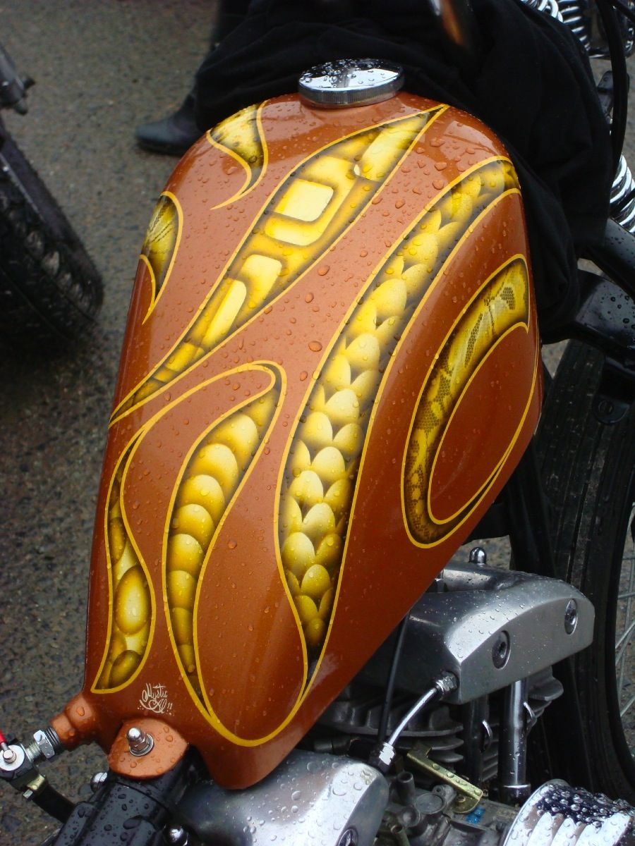 Bubble Visor Gas Tank Paint Motorcycle Tank Biker Art