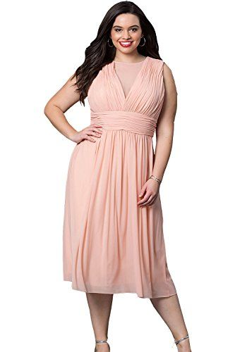 Selenaly Womens V Neck Plus Size Short Formal Cocktail Wedding