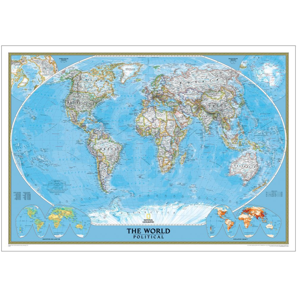 World political map classic enlarged and mounted basements world political map classic enlarged and mounted national geographic store gumiabroncs Images