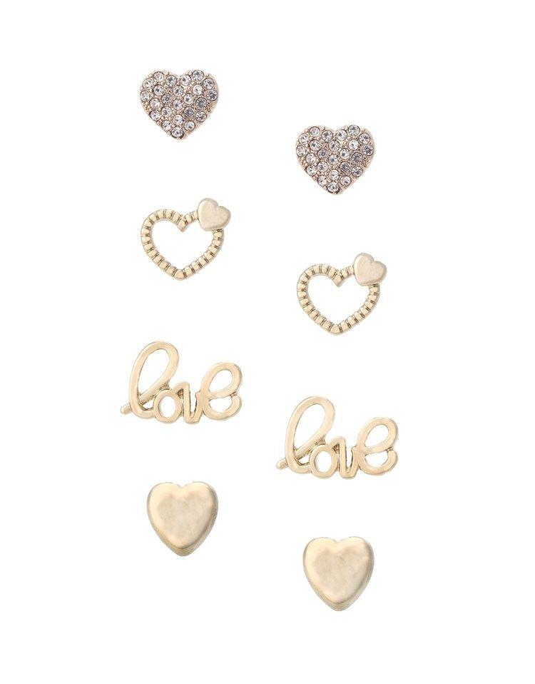 Ariana Grande For Lipsy Heart 4 Pack Earrings ♡ Pinterest ...