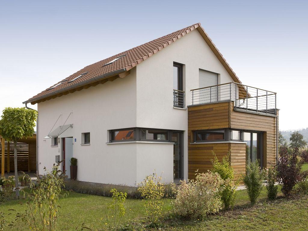 Einfamilienhaus modern holzhaus satteldach modern for Satteldach modern neubau