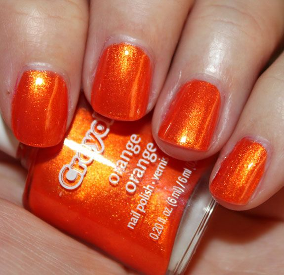 Crayola scented nail polish in orange. That\'s right. Crayola. (need ...