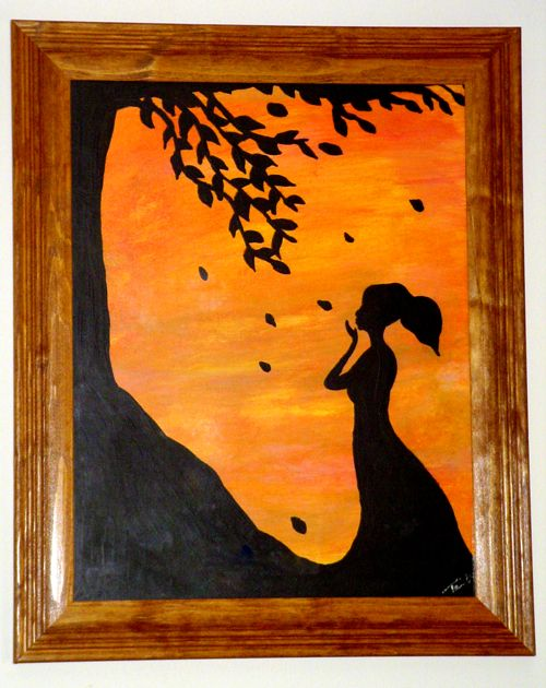 I Painted This A Few Years Ago To Hang In The Dining Room Super Easy Even If You Aren T An Artist You Can Always Just Print A Art Painting Silhouette