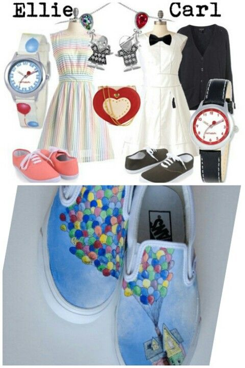 Up inspired shoes and outfits
