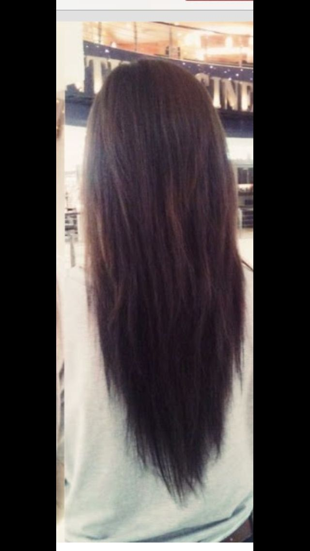 Layered Long Straight Hair Back View Hair Pinterest Long