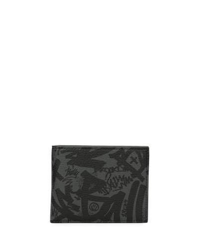 107aa50b56e5 Bally Bevye Graffiti-Print Leather Wallet