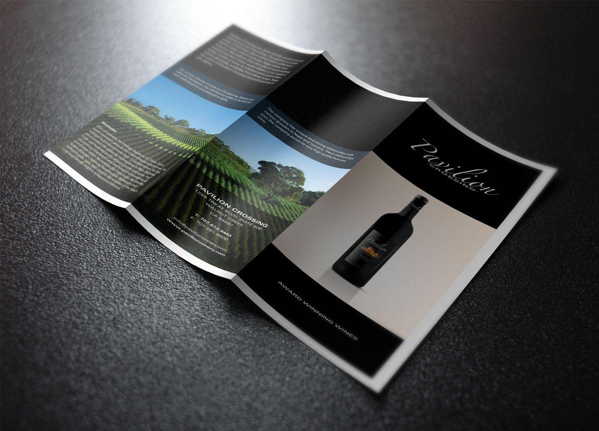 Pavilion Crossing Wine promotional brochure. | Wines, Brochure, Pavilion