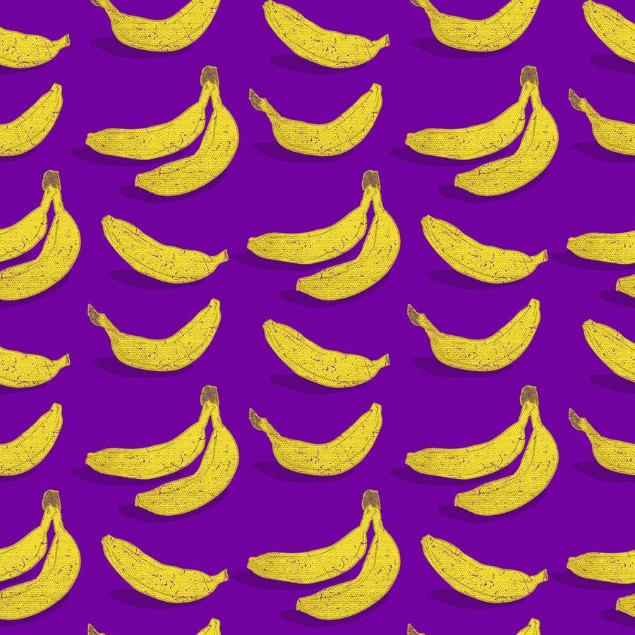 Banana On Purple Purple Wallpaper Purple Tapestry Wallpaper