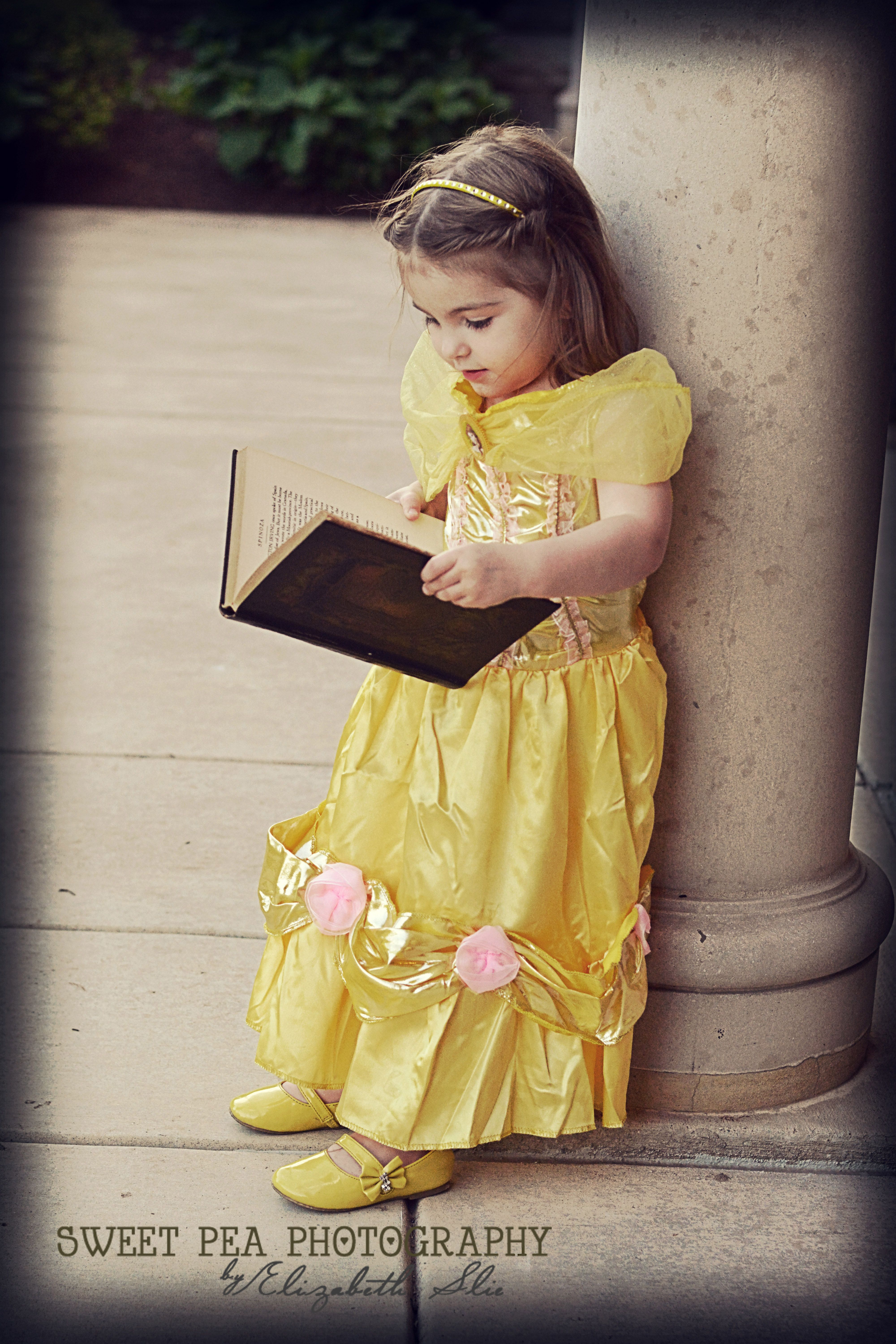 year old girl beauty and the beast photo shoot disney belle