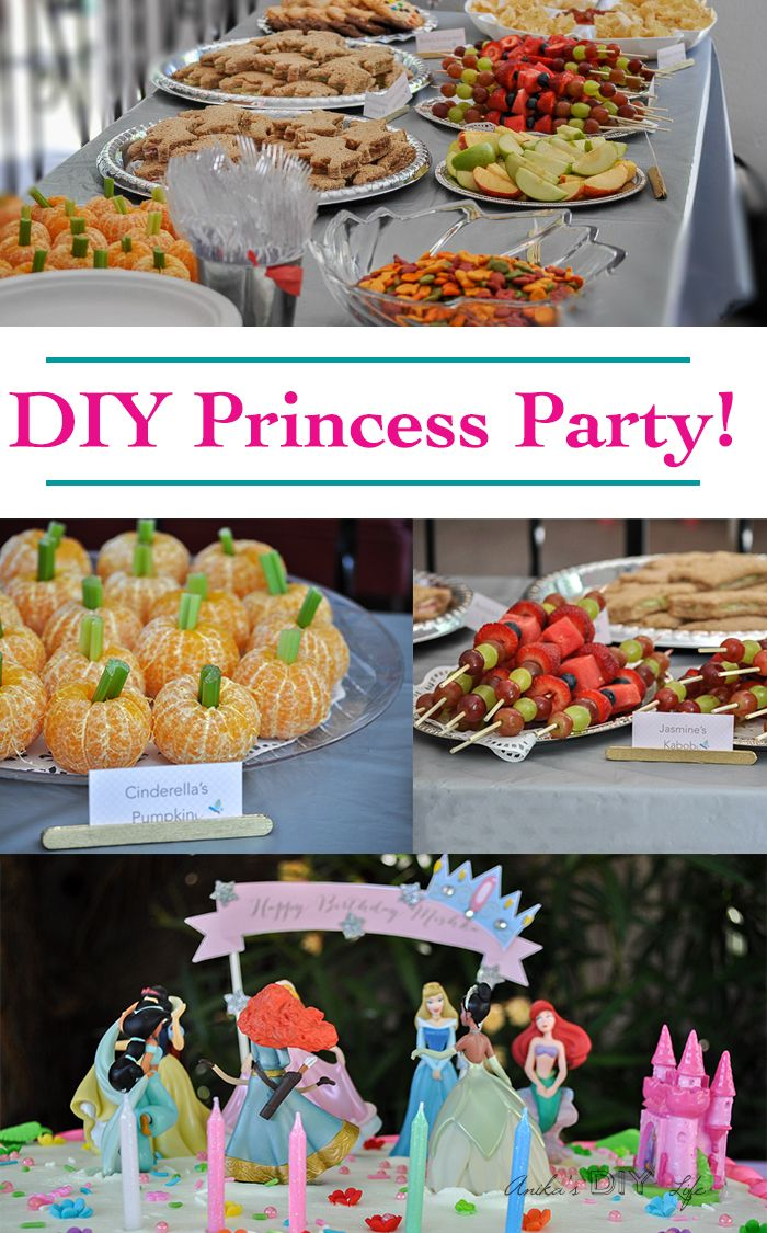 diy princess birthday party anika s diy life pinterest