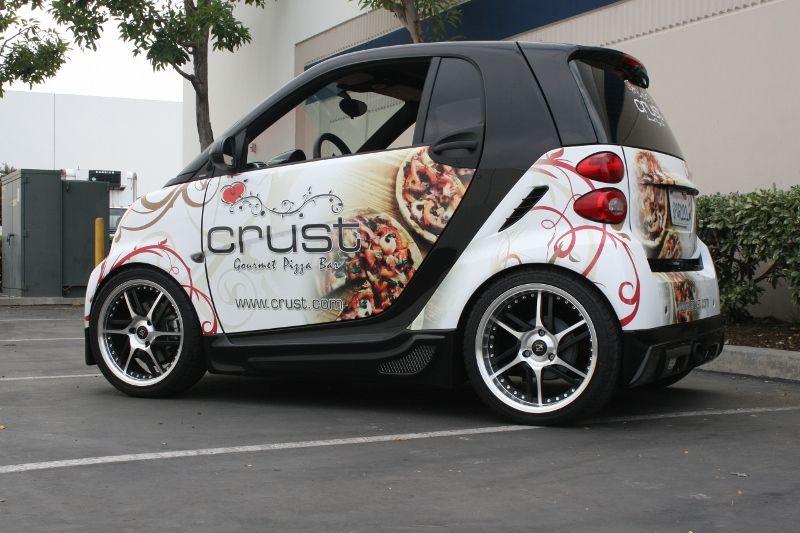 Crust Pizza Smart Car Wrap Smart Car Car Wrap Car Wrap Design