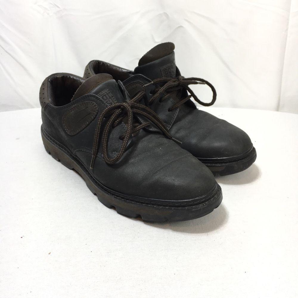 95dd21f98d3a Reebok BOKS Men s 8.5 Brown Black Leather Lace Up Oxford Shoes ...