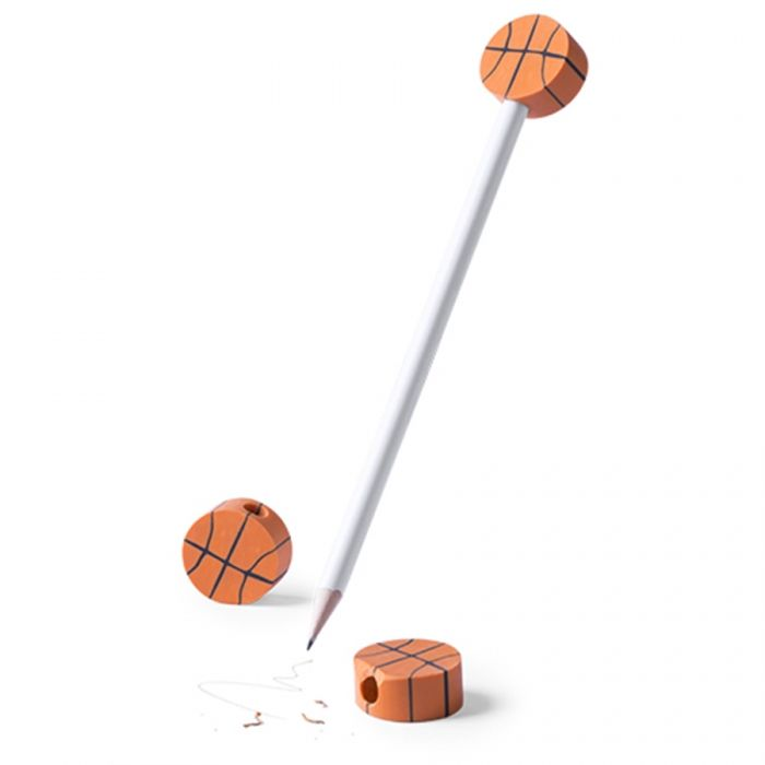 Lápiz con Gomas Baloncesto