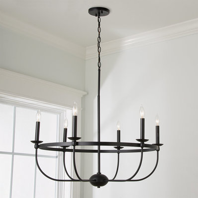 Aprie 6 Light Candle Style Classic Traditional Chandelier
