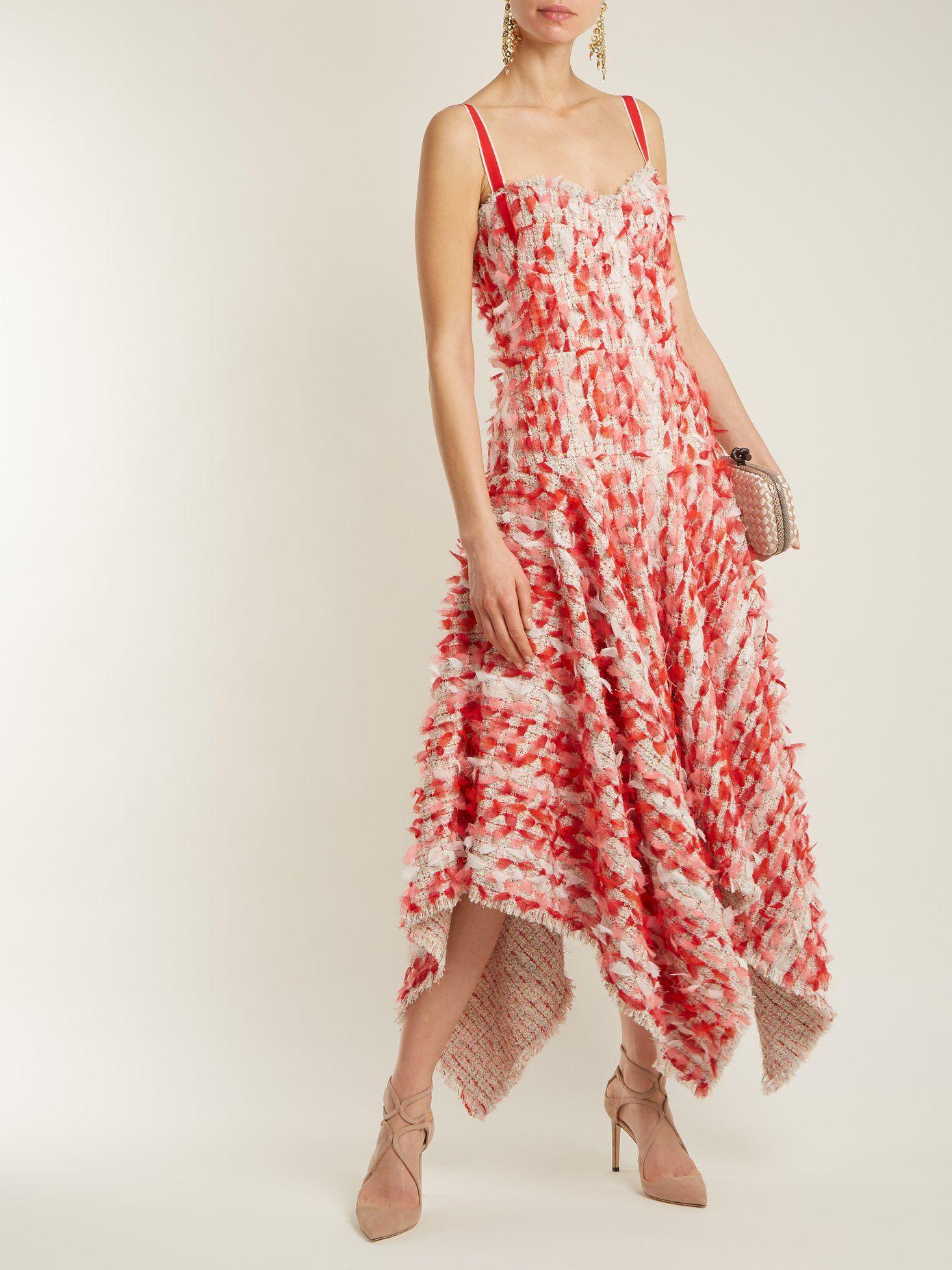 Handkerchief-hem tweed dress Alexander McQueen Discounts Cheap Price TDtT7qlK0