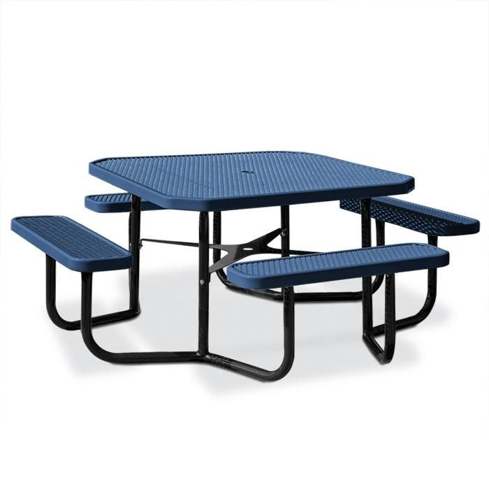 Octagonal Expanded Steel Table, Portable Frame | Picnic Tables ...