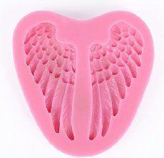 Moule silicone aile pour p/âte /à sucre amande fimo r/ésine #098